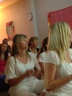 Chanting at Waverley Yoga Studio