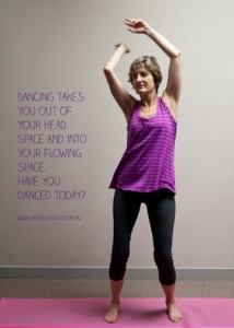 Dancing at Waverley Yoga Studio
