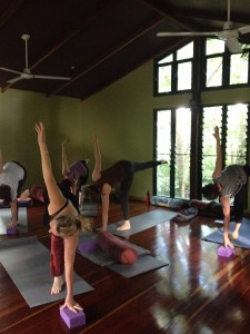 In the Yoga room at Sanctuary